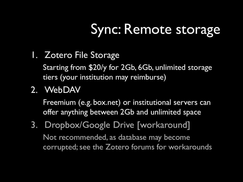 1. Zotero File Storage Starting from $20/y for ...