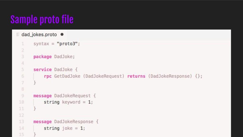 Sample proto file