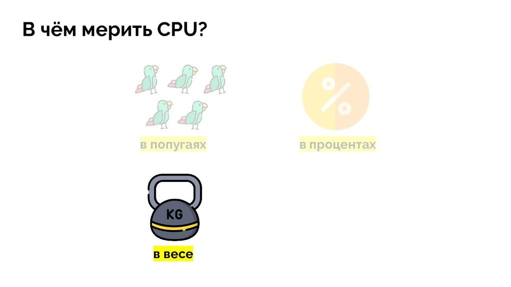 в попугаях в процентах В чём мерить CPU? в весе