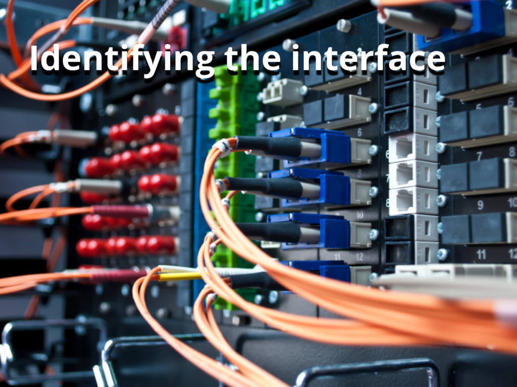 22 Identifying the interface