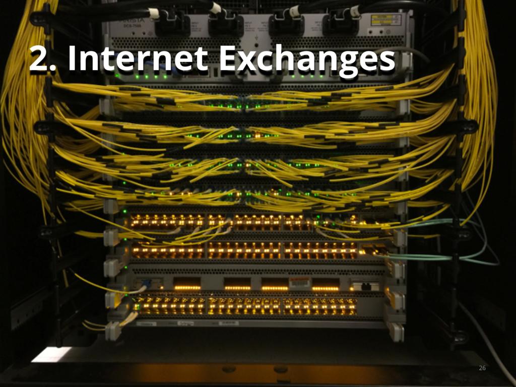 26 2. Internet Exchanges