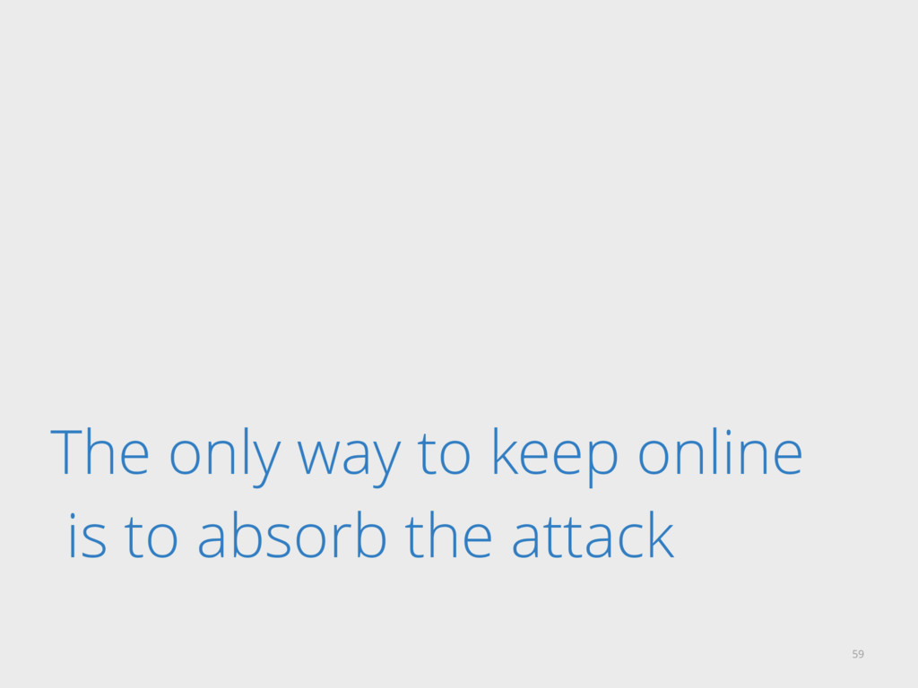 The only way to keep online is to absorb the at...