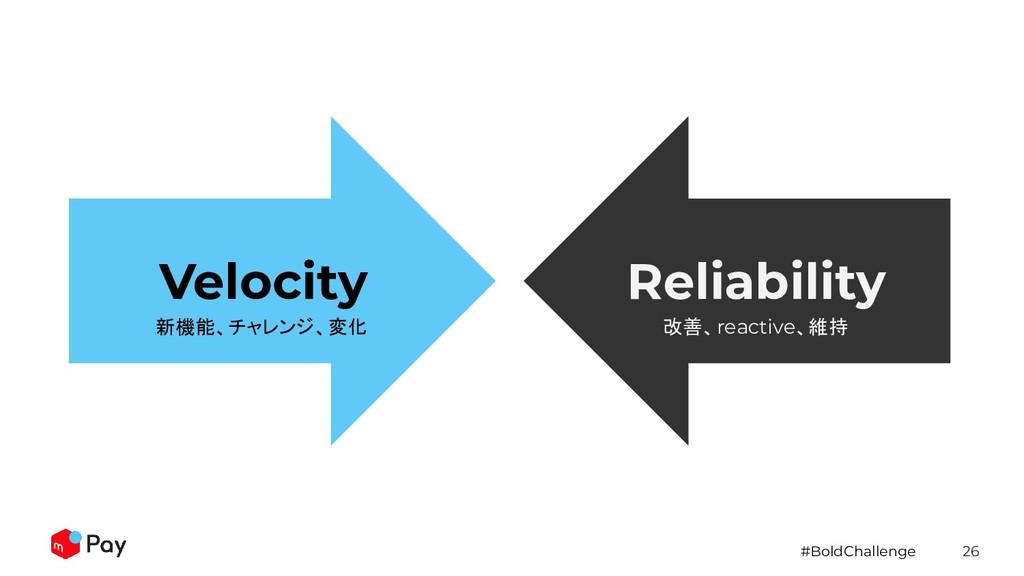 #BoldChallenge 26 Velocity Reliability 新機能、チャレン...