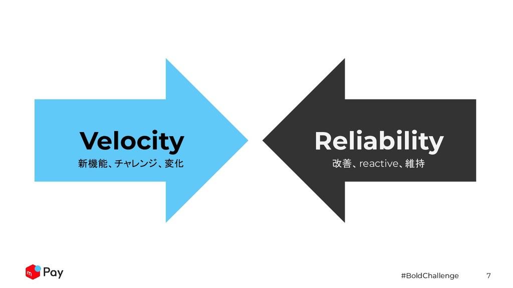 #BoldChallenge 7 Velocity Reliability 新機能、チャレンジ...