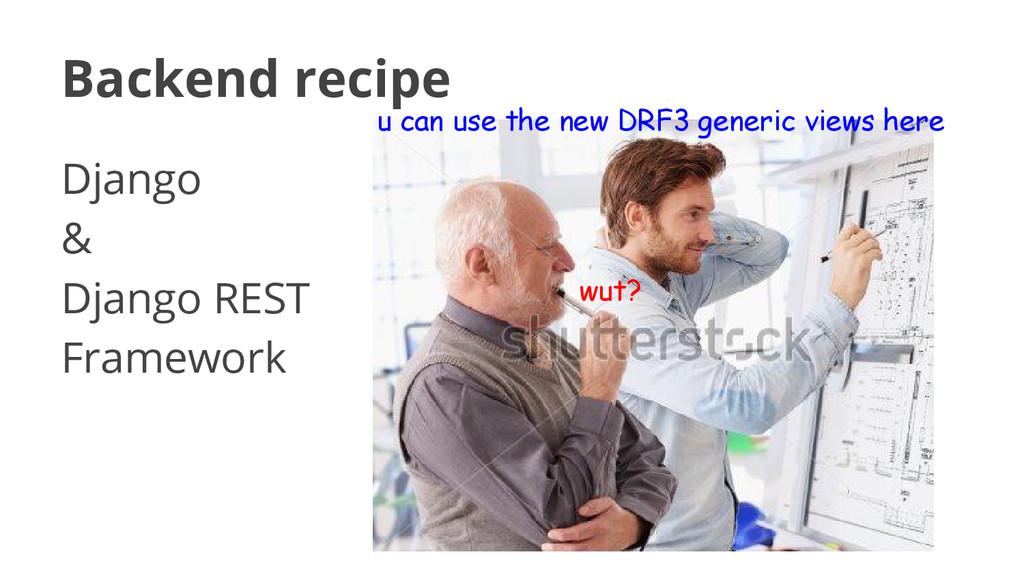 Backend recipe Django & Django REST Framework u...