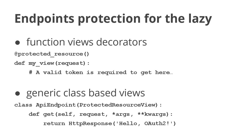 Endpoints protection for the lazy ● function vi...