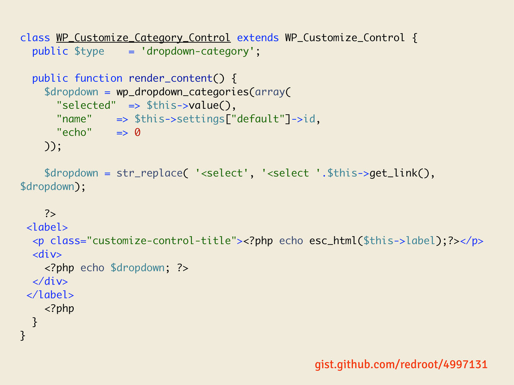 class WP_Customize_Category_Control extends WP_...