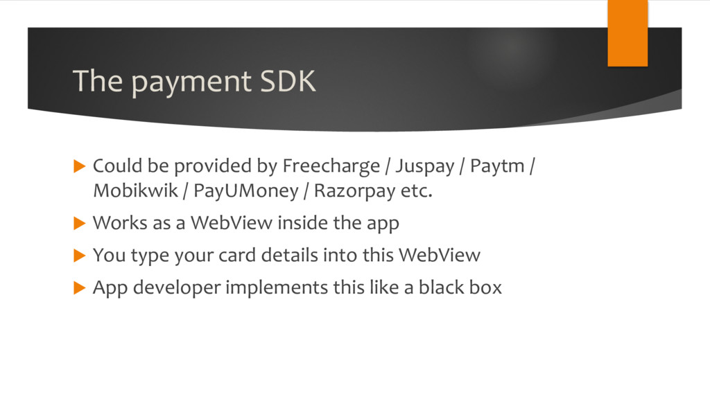 The payment SDK u Could be provided by Freechar...