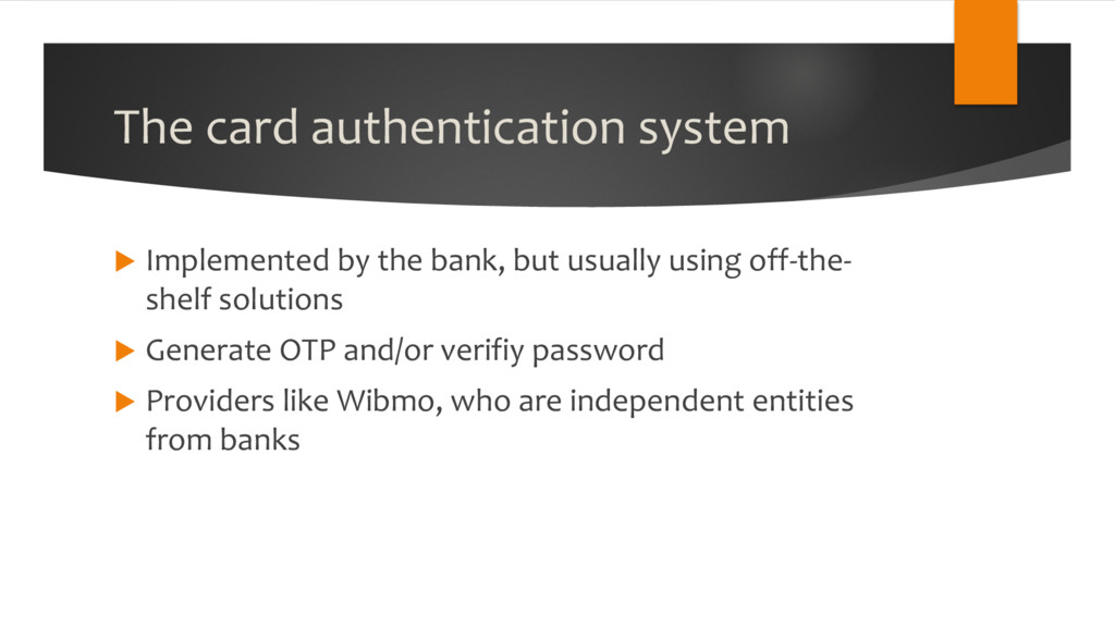 The card authentication system u Implemented by...