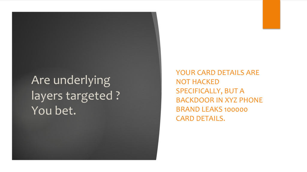 Are underlying layers targeted ? You bet. YOUR ...