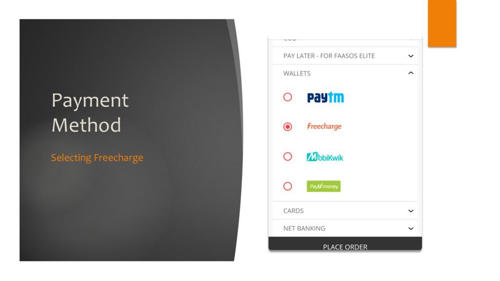 Payment Method Selecting Freecharge
