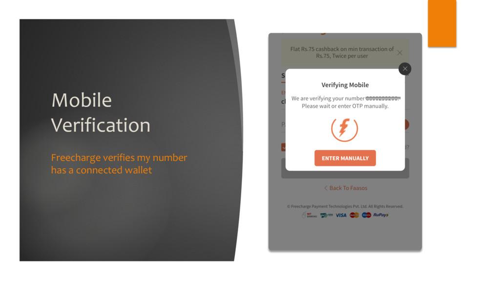 Mobile Verification Freecharge verifies my numb...