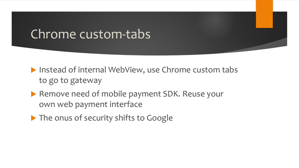 Chrome custom-tabs u Instead of internal WebVie...