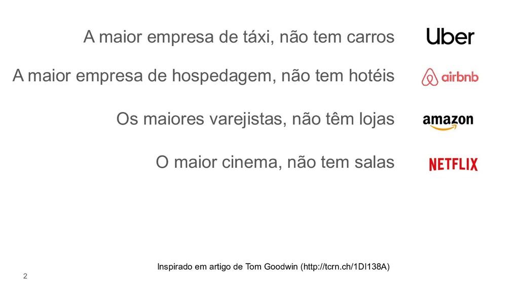 A maior empresa de táxi, não tem carros 2 A mai...