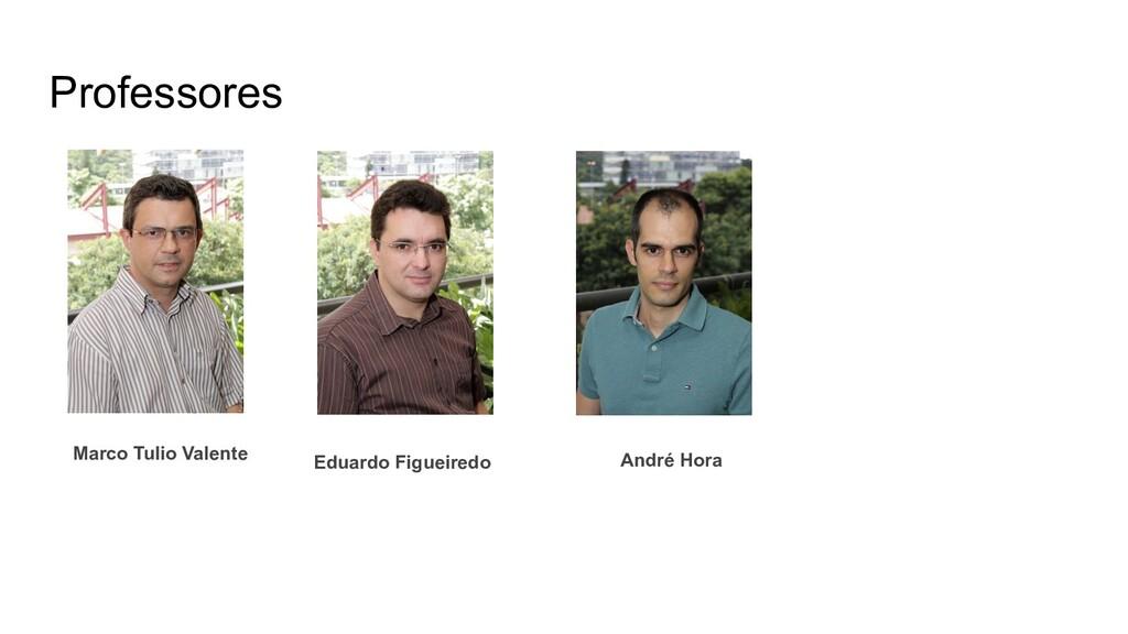 Professores André Hora Eduardo Figueiredo Marco...