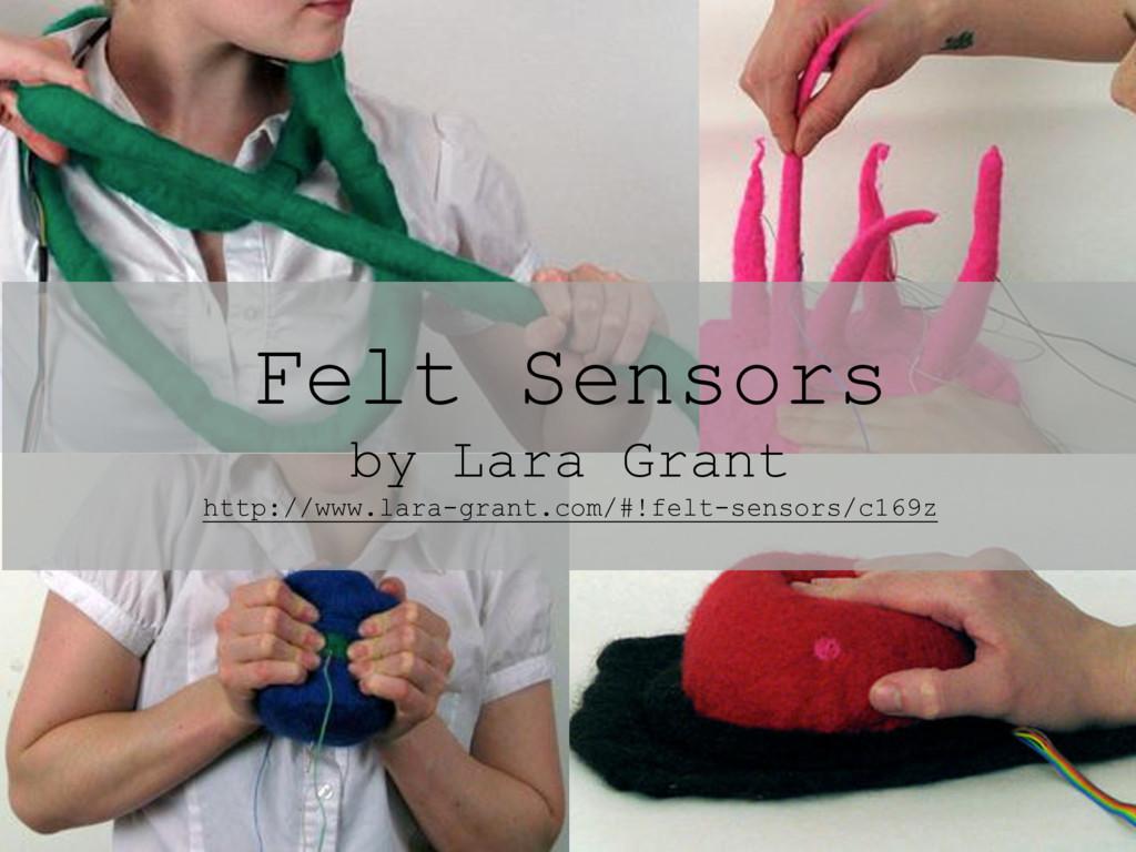 Felt Sensors by Lara Grant http://www.lara-gran...