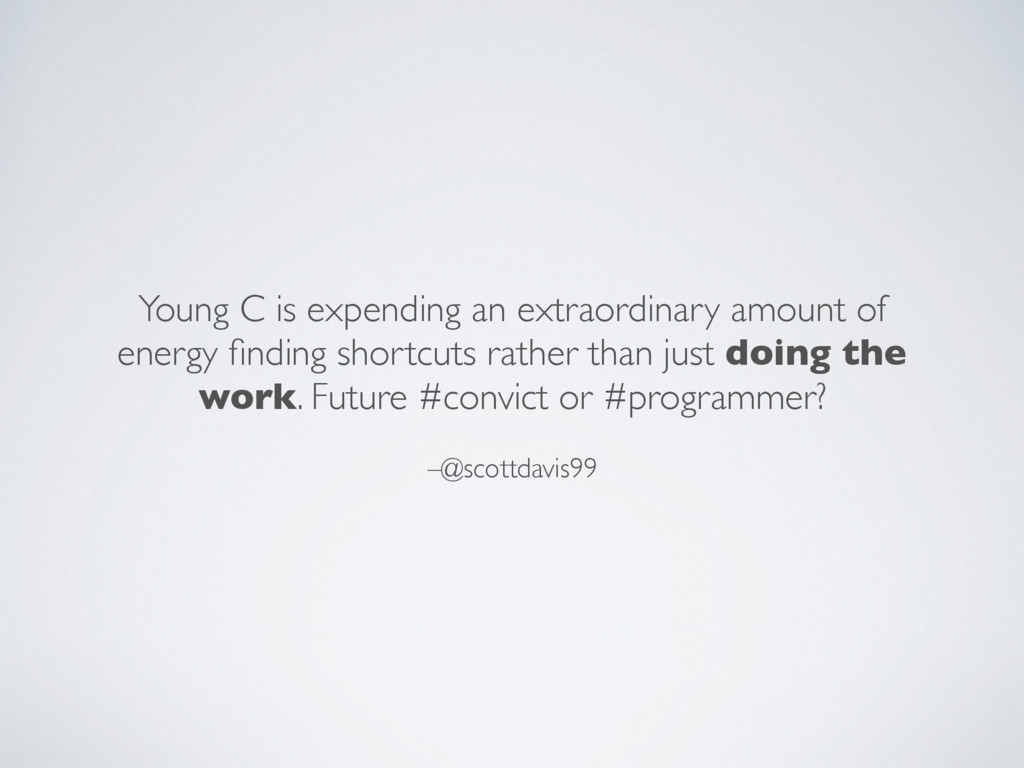 –@scottdavis99 Young C is expending an extraord...