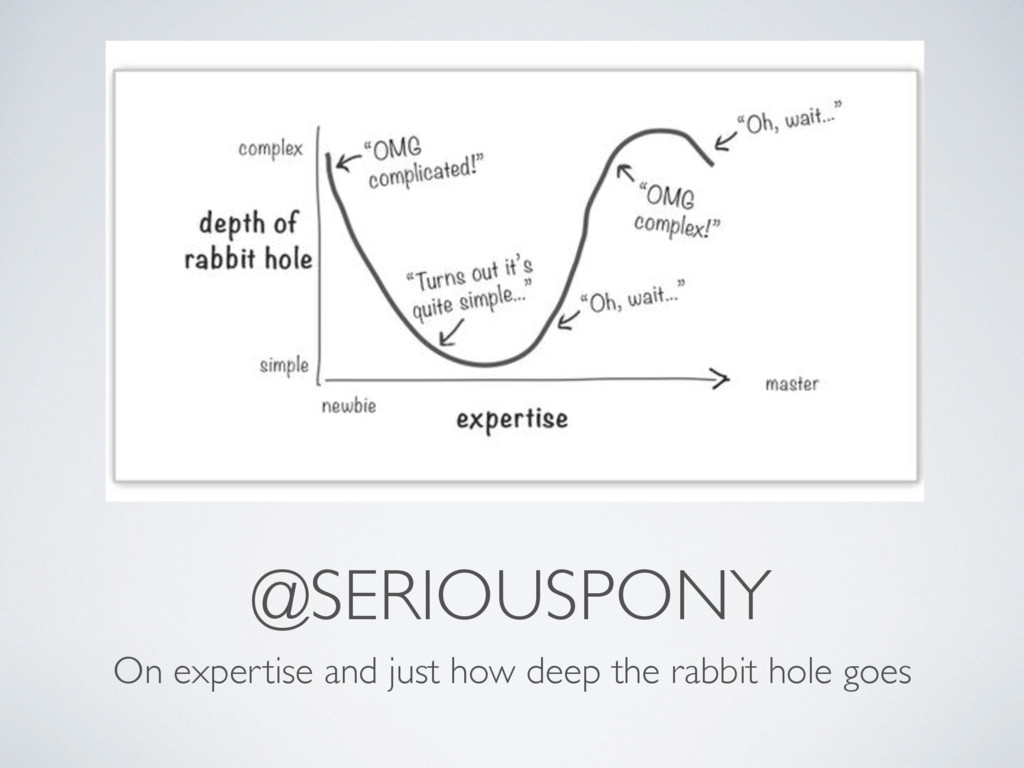 @SERIOUSPONY On expertise and just how deep the...