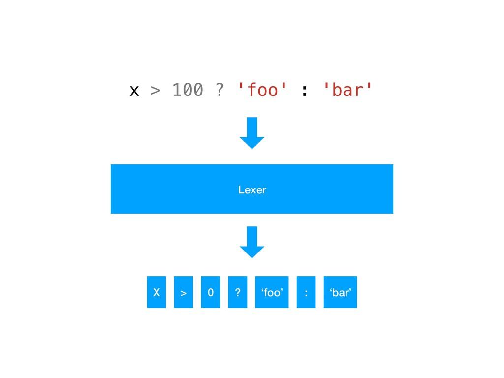 x > 100 ? 'foo' : 'bar' X > 0 ? 'foo' : 'bar' L...