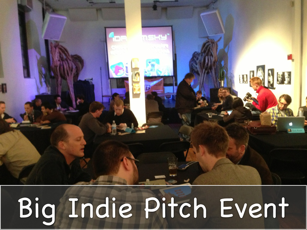Big Indie Pitch Event