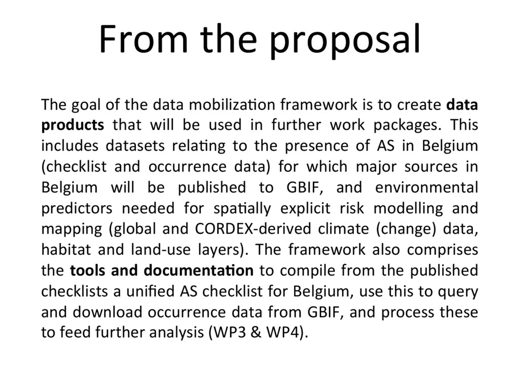 The goal of the data mobiliza+on framework is t...