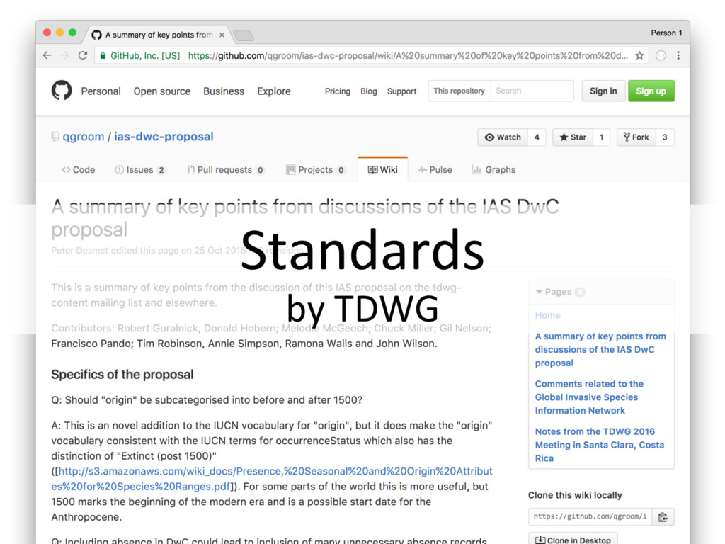 Standards by TDWG