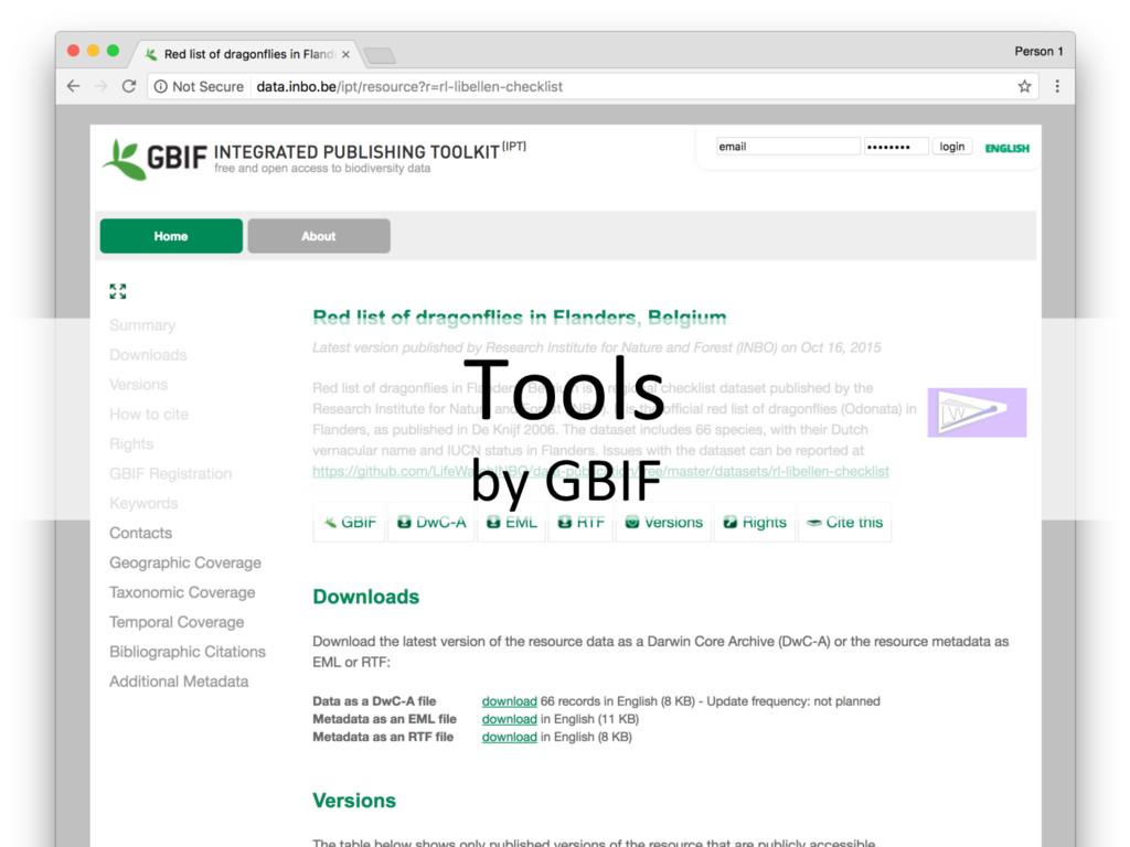 Tools by GBIF