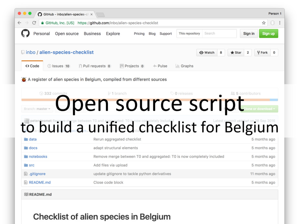 Open source script to build a unified checklist ...