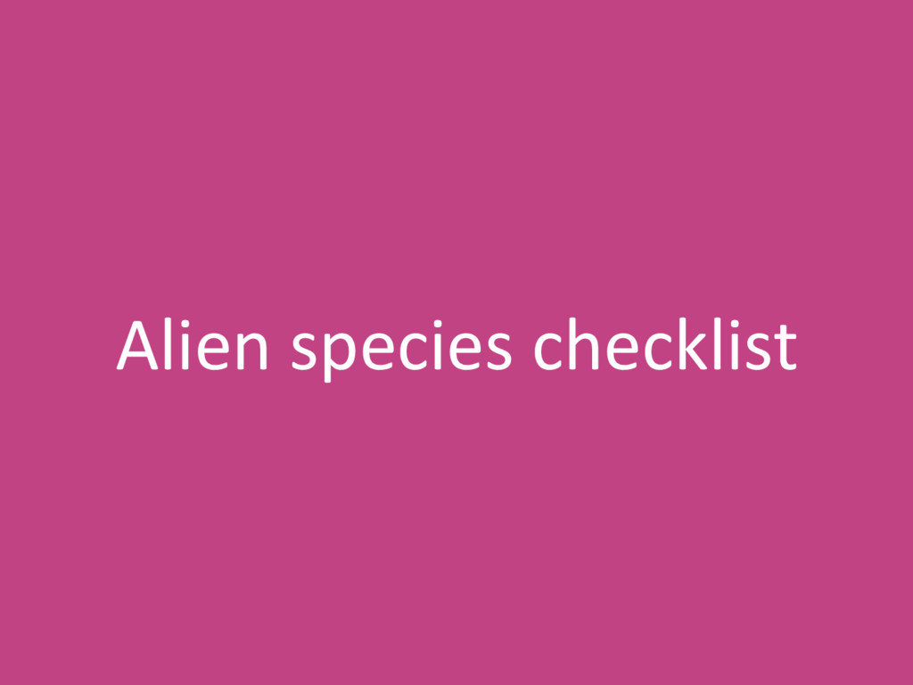 Alien species checklist