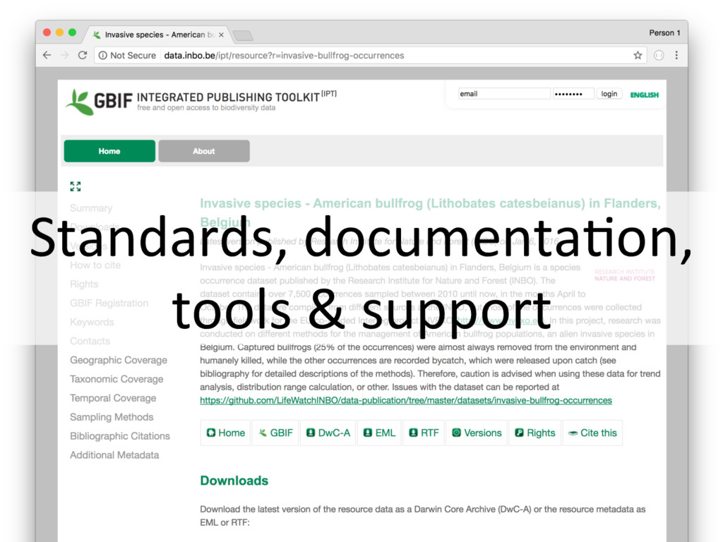 Standards, documenta+on, tools & support