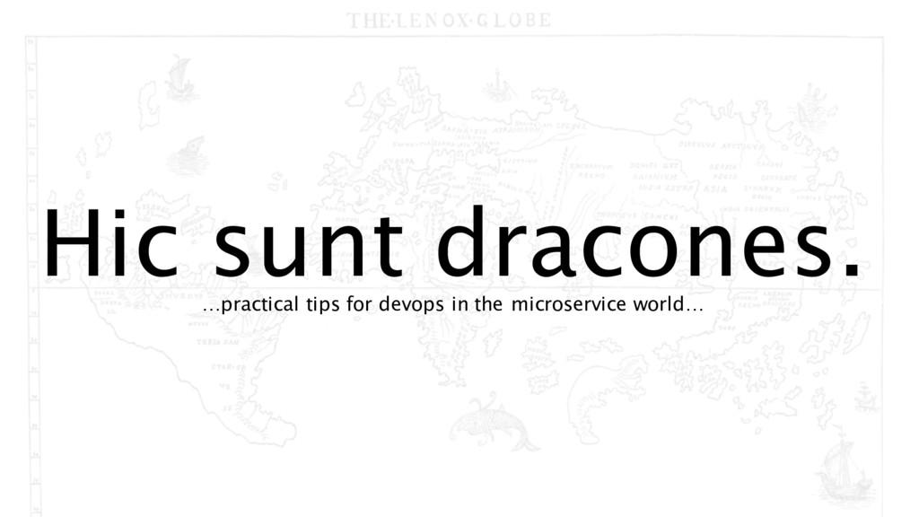 Hic sunt dracones. …practical tips for devops i...