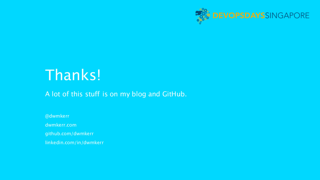 Thanks! A lot of this stuff is on my blog and G...