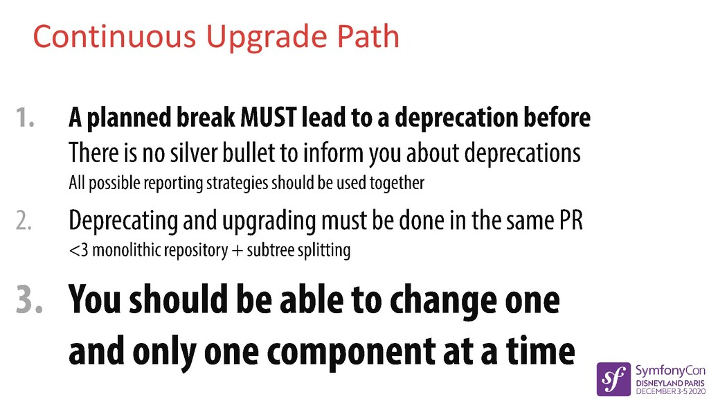 Continuous Upgrade Path