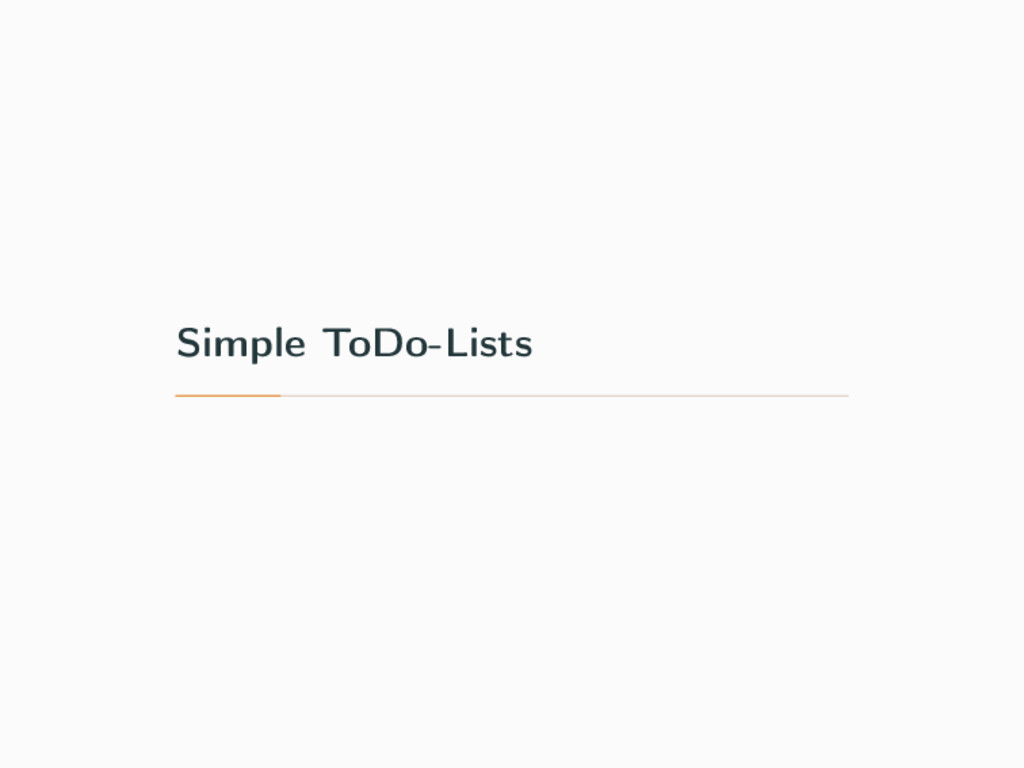 Simple ToDo-Lists