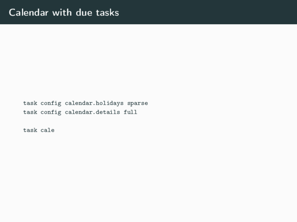 Calendar with due tasks task config calendar.ho...