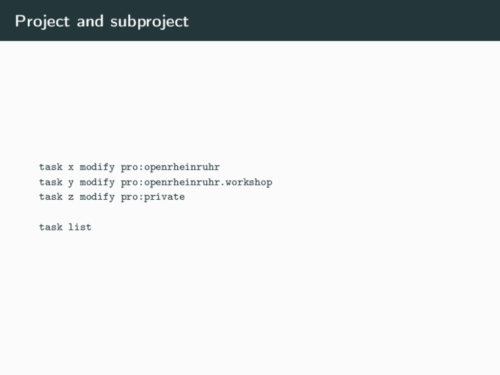 Project and subproject task x modify pro:openrh...