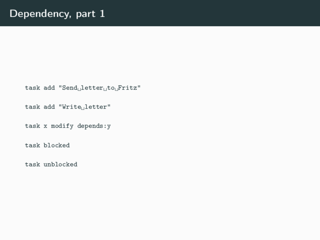 "Dependency, part 1 task add ""Send␣letter␣to␣Fri..."