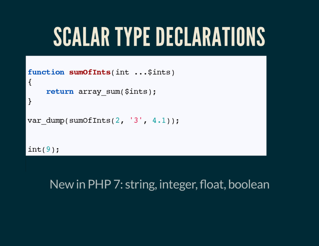SCALAR TYPE DECLARATIONS // Coercive mode funct...