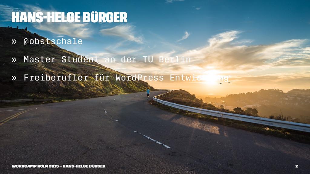 Hans-Helge Bürger » @obstschale » Master Studen...