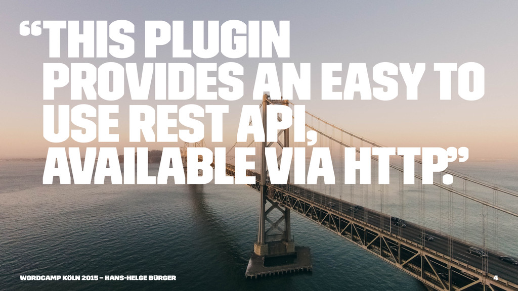 """""""This plugin provides an easy to use REST API, ..."""