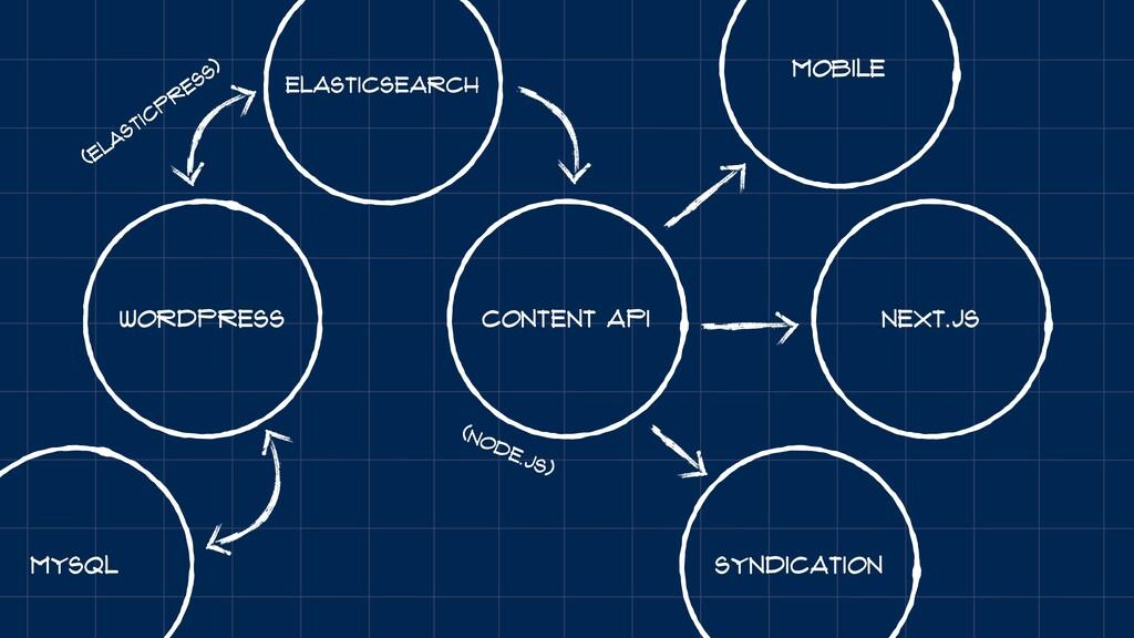 WordPress Next.JS Content API Elasticsearch (El...