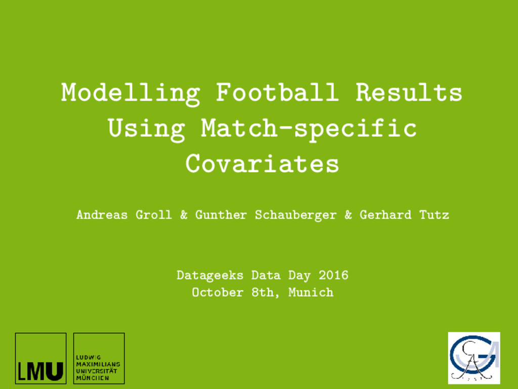 Modelling Football Results Using Match-specific...