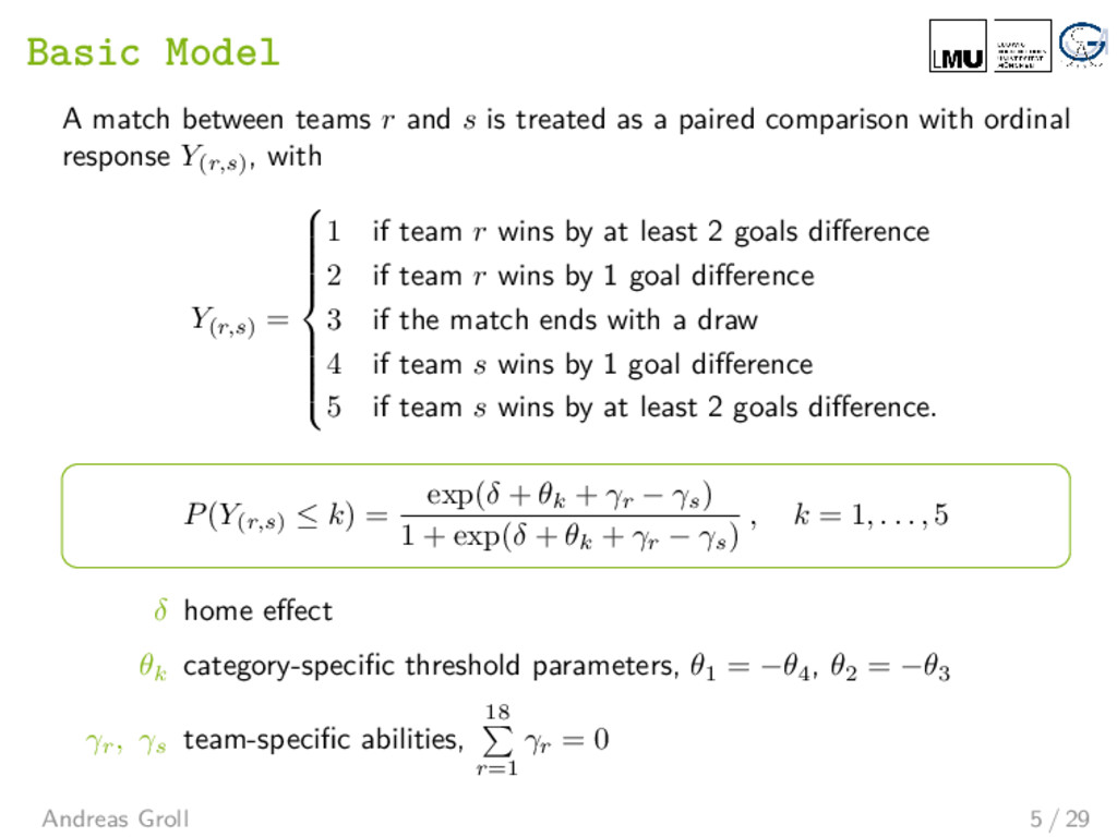 Basic Model A match between teams r and s is tr...