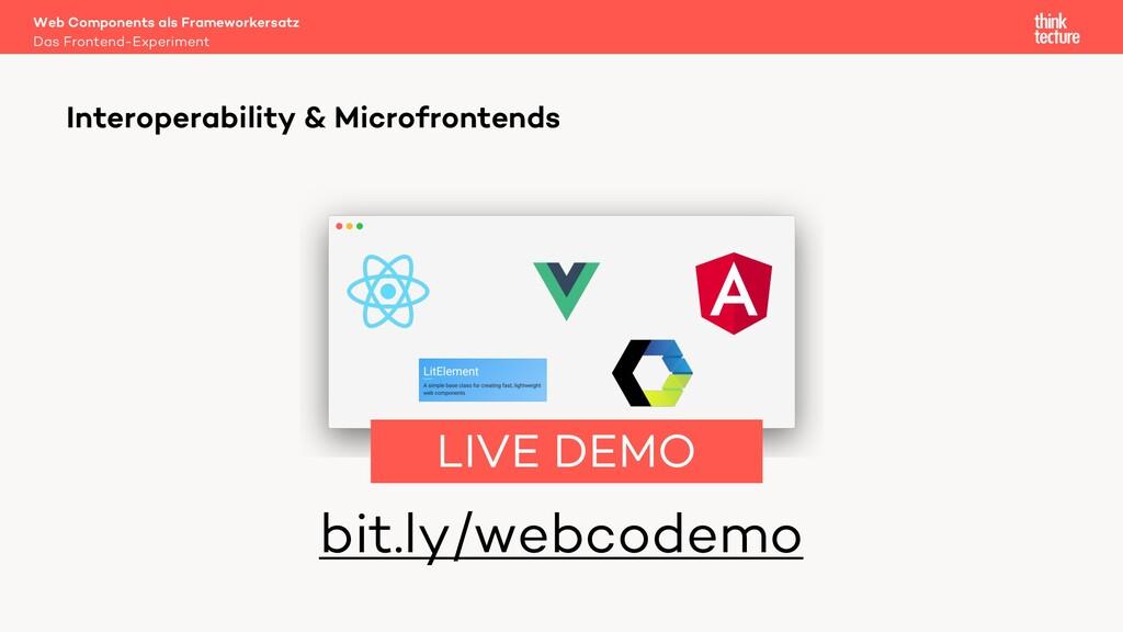 bit.ly/webcodemo Web Components als Frameworker...
