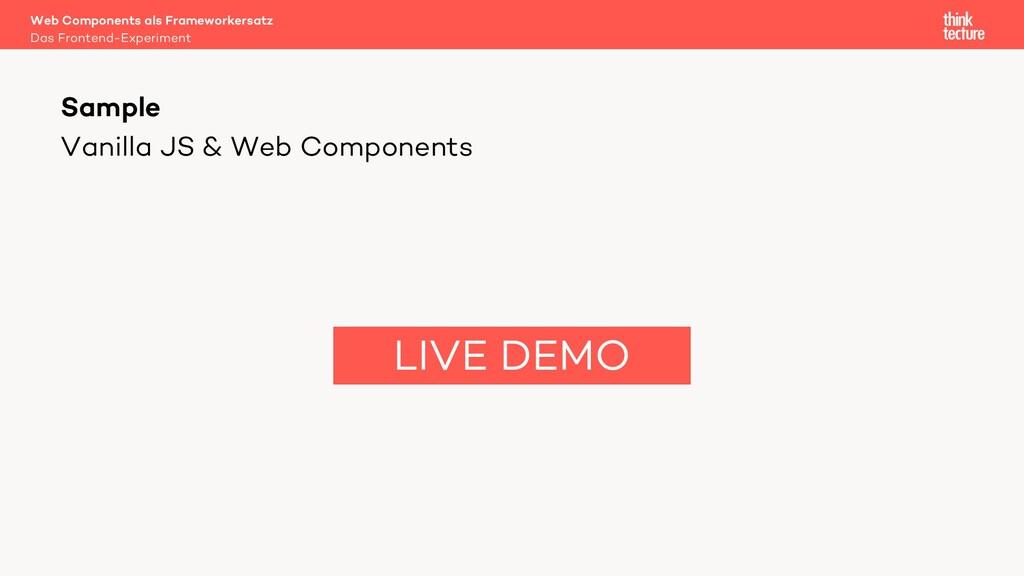 Vanilla JS & Web Components Web Components als ...