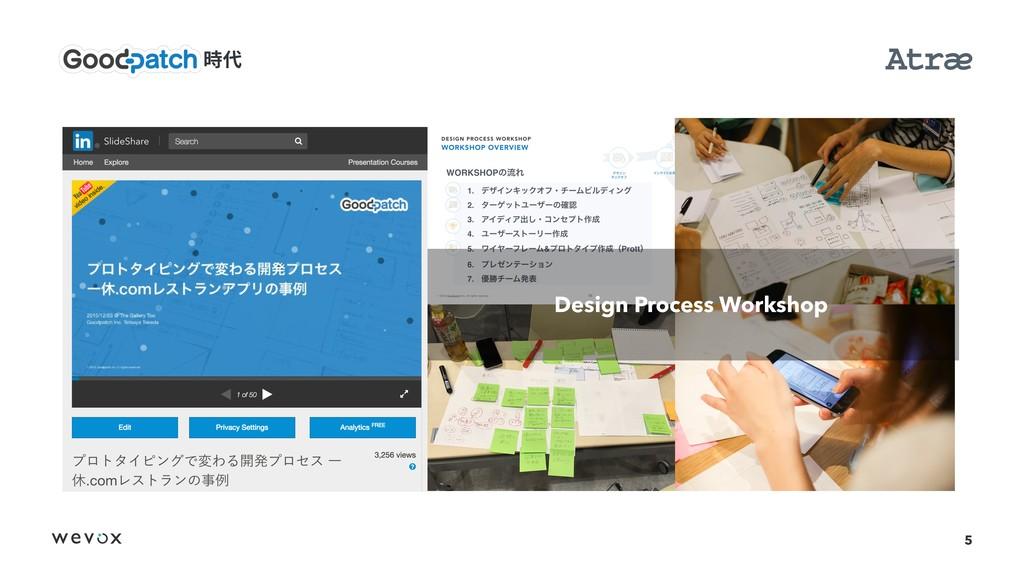 5 Design Process Workshop 侇♏