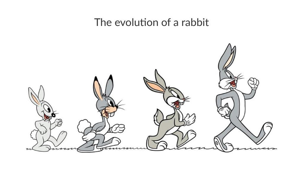 The$evolu)on$of$a$rabbit