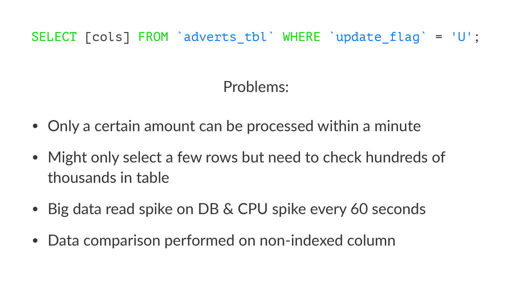 SELECT [cols] FROM `adverts_tbl` WHERE `update_...