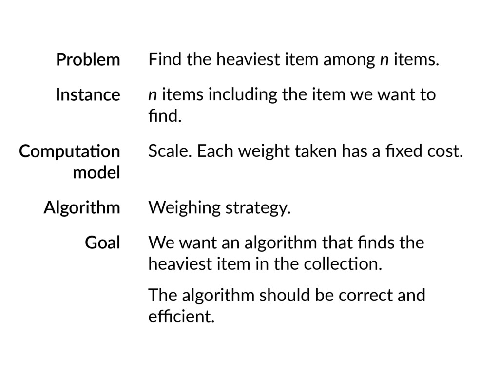 Problem Instance Computa;on