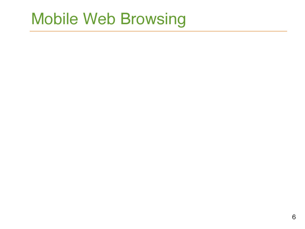 6 Mobile Web Browsing